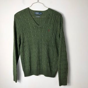 Polo by Ralph Lauren tussah silk v neck sweater